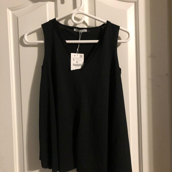 Zara,black, v-neck blouse.Brand new with tags.